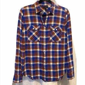 J Crew button down flannel.